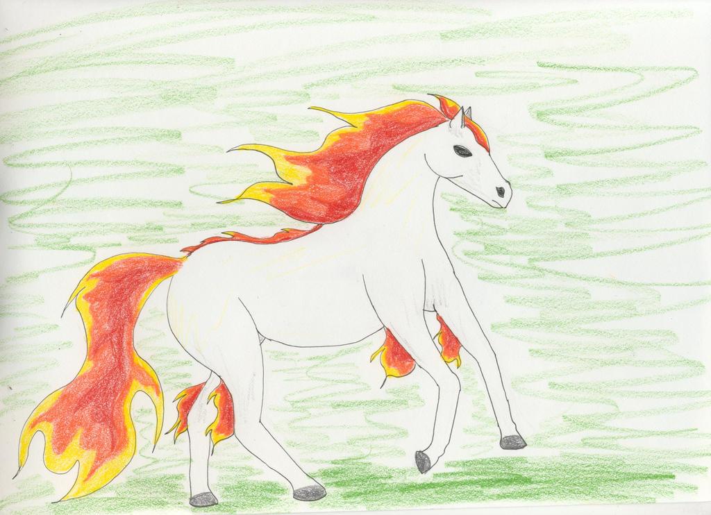 Running Flame by Midorii-kiri