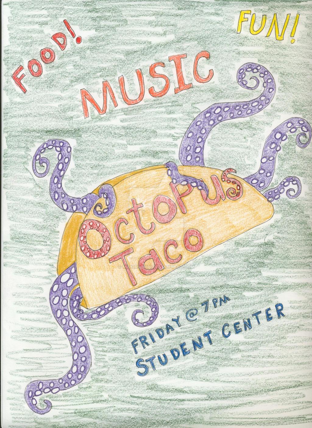Octopus Taco by Midorii-kiri