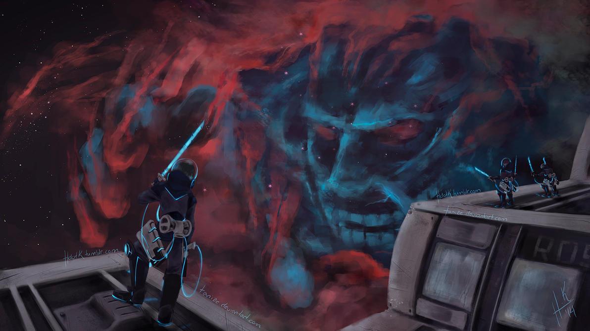 Attack on Nebula Face by Tanize