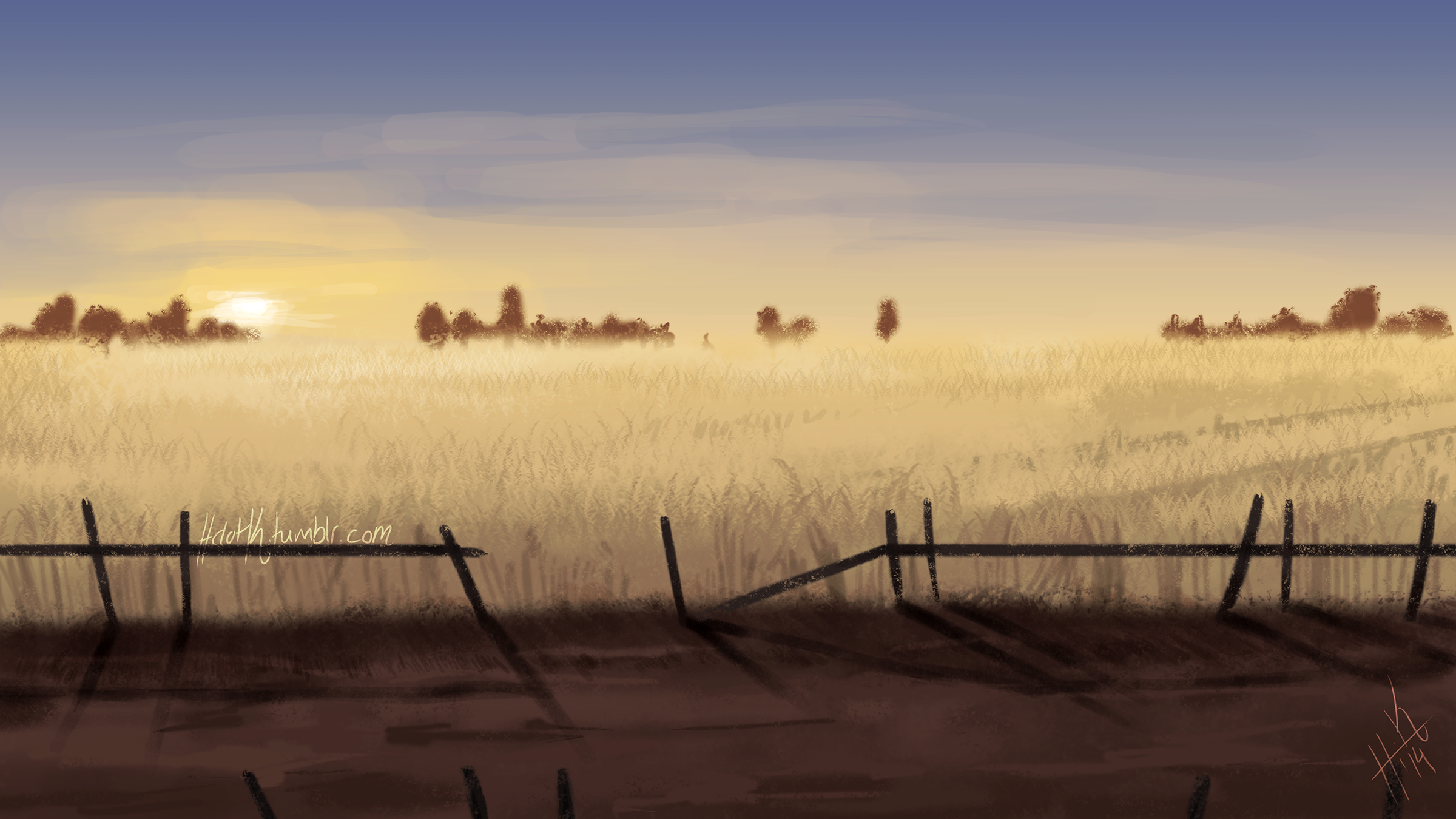 Wheat Field by Tanize