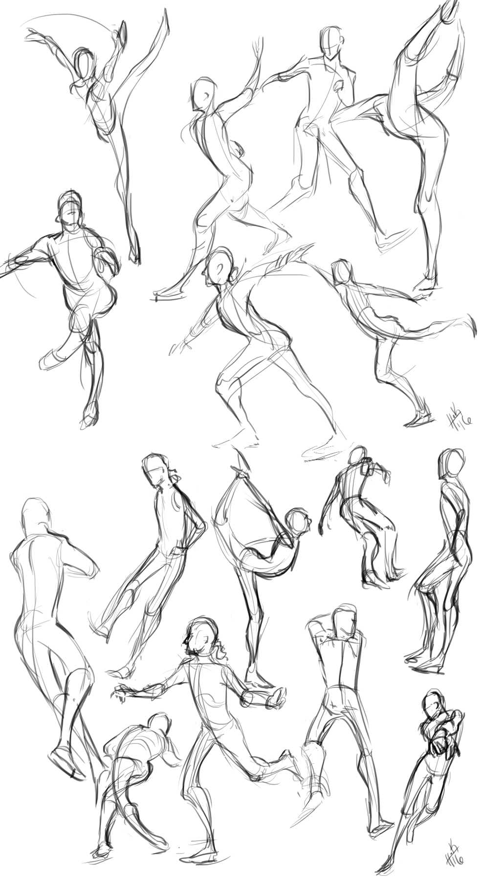 Skating figures by Tanize