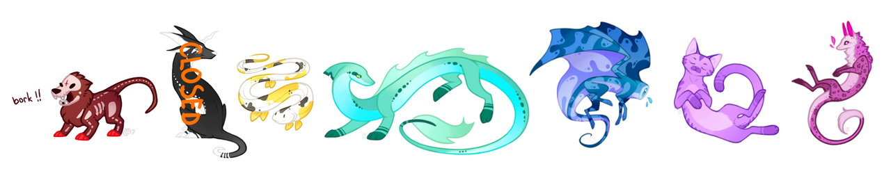 [Mixed Batch] Colorful Creatures - 6/7 OPEN by PenWingStar