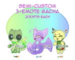 [Adopts] Semi-Custom 3-Emote Gacha R2 - CLOSED