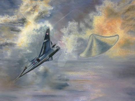 Real UFO Encounter (Artist Impression)