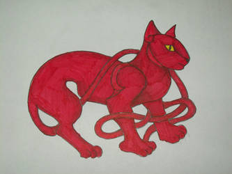Red Celtic Kitty by kimchan