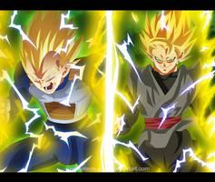 Manga 19 Vegeta SSJ2 VS Black Goku SSJ Complete by SenniN-GL-54