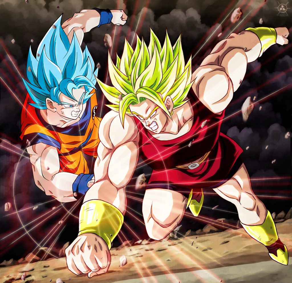 Kale Vs Goku SSGSS CH100 Dragon Ball Super By SenniN GL 54