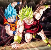 Kale vs Goku SSGSS CH100 Dragon Ball Super by SenniN-GL-54