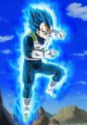 Training - Vegeta Ultra Blue - Dragon Ball Super by SenniN-GL-54