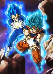 Final Kamehameha - Goku and Vegeta Ultra Blue by SenniN-GL-54