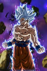 Goku Perfect Ultra Instinct - Silver Goku EP.129 by SenniN-GL-54