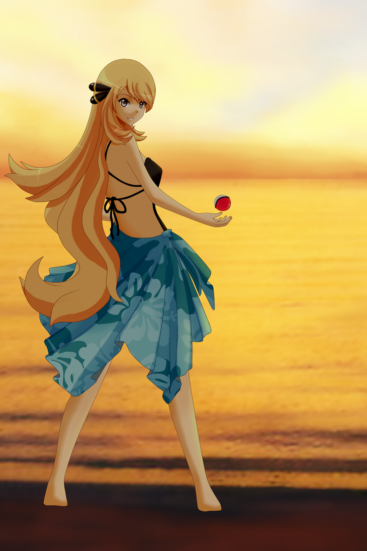 You Are Challenged By Pokemon Trainer Cynthia By Chyndea On Deviantart