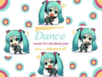 Dance Miku Wallpaper by Lee-Clawda