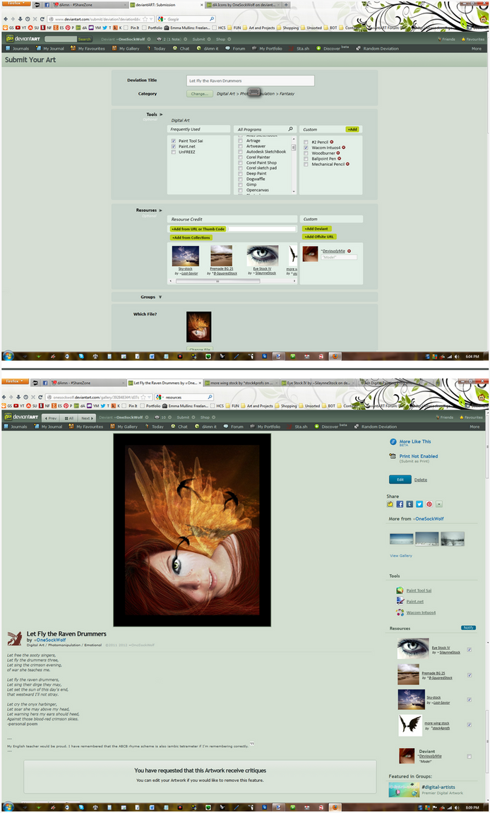 DeviantArt Submission Page Suggestions by MamaELM