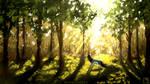 Cascade1 - Sunlit Forest