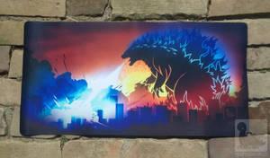 Custom Tribal Godzilla Playmat Printed