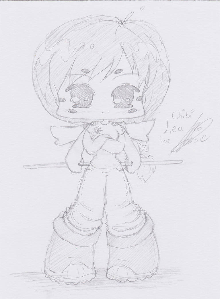 Chibi Lea by Theopenandclosedbook