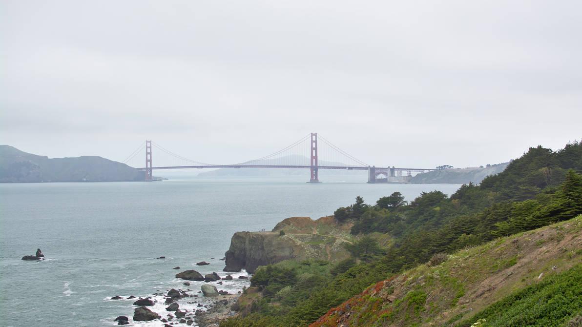 Golden Gate Bridge in the haze