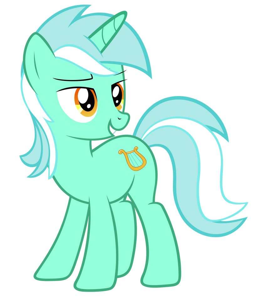 Lyra giving the look (sockless)