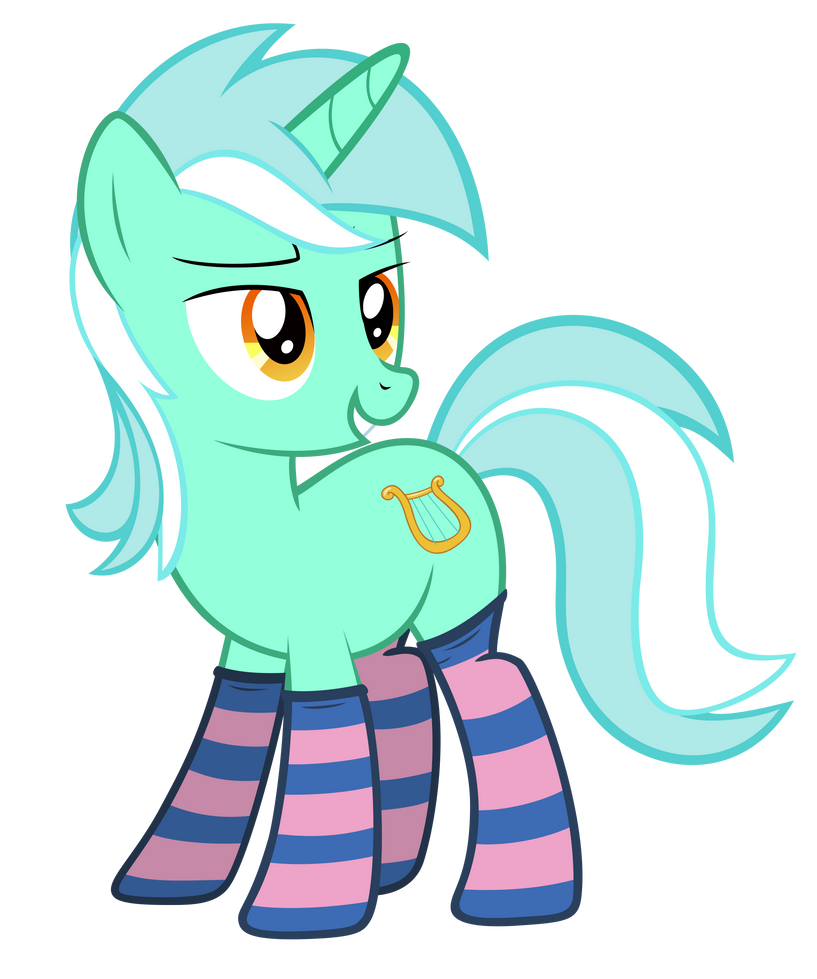 Lyra giving the look (sockies) by FluffyTuli