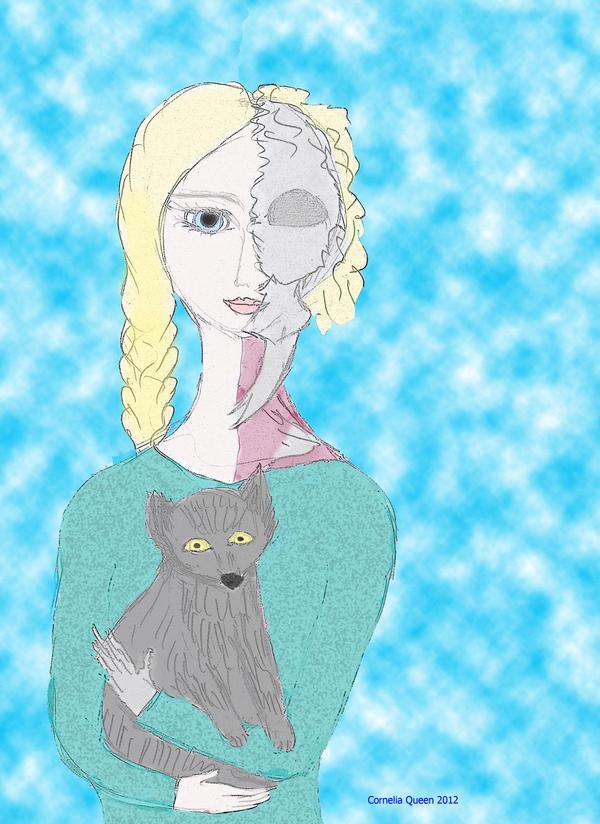 Hel and Fenris. Childhood by Cornelia-Queen