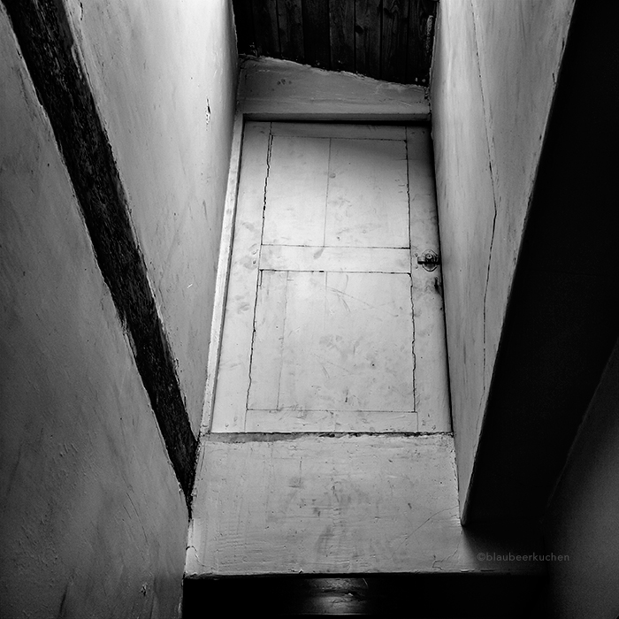 the attic, the door, and a very missing detail by BlauBeerKuchen