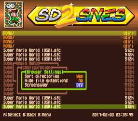 SD2SNES custom menu (pixel art banner)