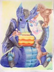Birthday Gifterino for Rilin by Wingcapman
