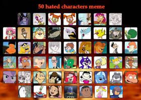 My 50 Most Hated Characters by katamariluv