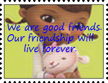 We Are Good Friends stamp by katamariluv