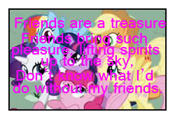 Friends Are a Treasure Stamp by katamariluv