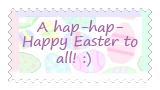 Happy Easter Stamp by katamariluv
