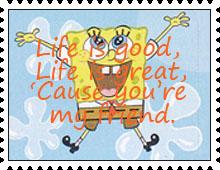 Life is Good Stamp by katamariluv
