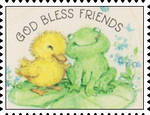 God Bless Friends stamp by katamariluv