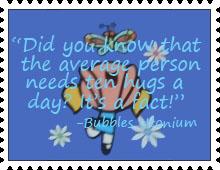 Ten Hugs a Day Stamp by katamariluv