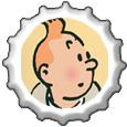 Tintin Bottlecap by katamariluv
