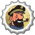Captain Haddock Bottlecap by katamariluv