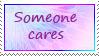 Someone Cares stamp by katamariluv
