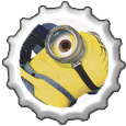 Minion bottlecap by katamariluv