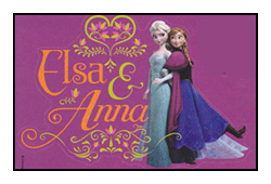 Sisters Elsa and Anna stamp by katamariluv