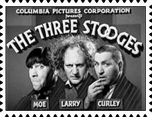 Three Stooges stamp by katamariluv