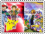 Both Pokemon and Digimon Are Great stamp