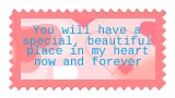 Special Place in my Heart Forever stamp by katamariluv