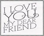 Love My Dear Friends stamp