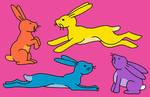 Name Your Price Neon Bunnies(4/4 open)