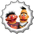 Ernie and Bert bottlecap by katamariluv