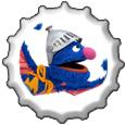 Super Grover bottlecap by katamariluv