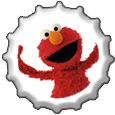 Elmo bottlecap by katamariluv