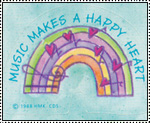 Music Makes a Happy Heart stamp by katamariluv