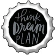 Think, Dream, Plan bottlecap by katamariluv
